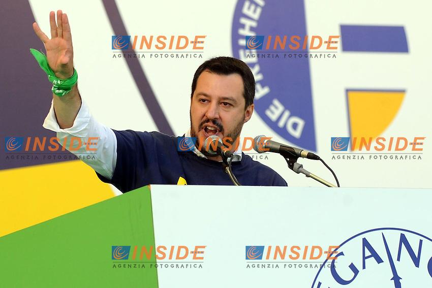 Matteo Salvini <br /> Pontida (Bg) 04/05/2014 <br /> raduno Lega Nord a Pontida - Lega Nord party Rally<br /> foto Andrea Ninni/Image/Insidefoto