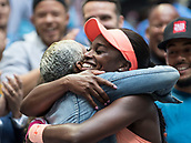 9th September 2017, FLushing Meadows, New York, USA;  Sloan Stephens (USA) embraces her mother Sybil Smith after winning the US Open Women's Singles title  at the USTA Billie Jean King National Tennis Center in Flushing Meadow, NY.