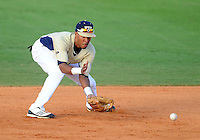 Florida International University infielder Julius Gaines (2) plays against Florida Gulf Coast University. FIU won the game 10-3 on March 28, 2012 at Miami, Florida.
