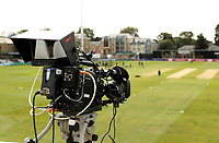 Television camera surveys the field prior to Essex Eagles vs Surrey, Vitality Blast T20 Cricket at The Cloudfm County Ground on 11th September 2020