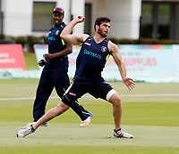 Grant Stewart warms up during day 2 of the Specsavers County Championship Div 2 game between Kent and Sussex at the St Lawrence Ground, Canterbury, on May 12, 2018