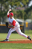 Pitcher Greg Greve #32 of the Ohio State Buckeyes during a game vs the St. John's Red Storm at the Big East-Big Ten Challenge at Walter Fuller Complex in St. Petersburg, Florida;  February 20, 2011.  Ohio State defeated St. John's 8-7 in 11 innings.  Photo By Mike Janes/Four Seam Images