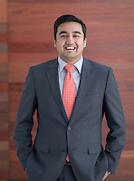 """Siddharth """"Sid"""" Saravat '15 - Portrait taken for Hameetman Career Center (HCC) brochure, March 10, 2016.<br /> (Photo by Marc Campos, Occidental College Photographer)"""