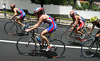 09 MAY 2004 - FUNCHAL, MADEIRA - Andrea Whitcombe (GBR) - Elite Womens World Triathlon Championships. (PHOTO (C) NIGEL FARROW)