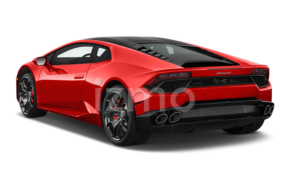 Car pictures of rear three quarter view of 2017 Lamborghini Huracan 580 2 Door Coupe Angular Rear