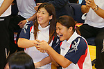 (L to R) Saori Yoshida, Kaori Icho, SEPTEMBER 9, 2013 - Wrestling : Japanese Wrestling team celebrate after Wrestling remained to the Summer Olympic Games in 2020 at Ajinomoto Traning center, Tokyo, Japan. (Photo by Yusuke Nakanishi/AFLO SPORT)