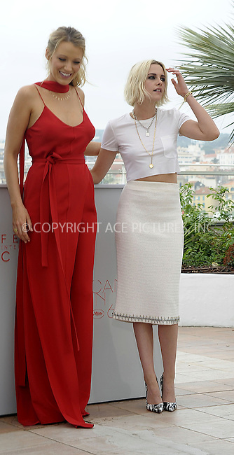 WWW.ACEPIXS.COM<br /> <br /> May 11 2016, Cannes<br /> <br /> Blake Lively and Kristen Stewart attending the 'Cafe Society' photocall during The 69th Annual Cannes Film Festival on May 11, 2016 in Cannes, France<br /> <br /> By Line: Famous/ACE Pictures<br /> <br /> <br /> ACE Pictures, Inc.<br /> tel: 646 769 0430<br /> Email: info@acepixs.com<br /> www.acepixs.com