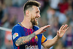 Lionel Andres Messi of FC Barcelona celebrates after scoring his goal during the La Liga 2017-18 match between FC Barcelona and SD Eibar at Camp Nou on 19 September 2017 in Barcelona, Spain. Photo by Vicens Gimenez / Power Sport Images
