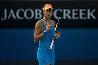 ANA IVANOVIC (SRB)<br /> <br /> Tennis - Australian Open - Grand Slam -  Melbourne Park -  2014 -  Melbourne - Australia  - 15th January 2013. <br /> <br /> &copy; AMN IMAGES, 1A.12B Victoria Road, Bellevue Hill, NSW 2023, Australia<br /> Tel - +61 433 754 488<br /> <br /> mike@tennisphotonet.com<br /> www.amnimages.com<br /> <br /> International Tennis Photo Agency - AMN Images