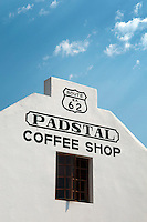 Montagu, South Africa, September 2011. The Padstal coffeeshop. The sleepy town of Montagu is home to artists and other people that have decided to seek peace. it is the gateway to the Karoo and we follow Route 62.  Travelling by camper is a great way to see the Cape Winelands, Klein Karoo, and the Garden Route. The Garden Route offers you majestic mountains, breathtaking views, a natural garden of rich, colourful vistas, with valleys and lakes, rivers and forests, a paradise for bird-lovers and nature lovers, an eco-destination like few others in the world, with miles upon miles of beautiful, white sandy beaches.  Photo by Frits Meyst/Adventure4ever.com