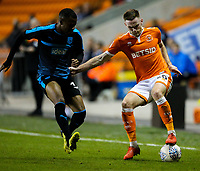 Blackpool's Ollie Turton battles with West Bromwich Albion U21&rsquo;s Rayhaan Tulloch<br /> <br /> Photographer Alex Dodd/CameraSport<br /> <br /> The EFL Checkatrade Trophy Northern Group C - Blackpool v West Bromwich Albion U21 - Tuesday 9th October 2018 - Bloomfield Road - Blackpool<br />  <br /> World Copyright &copy; 2018 CameraSport. All rights reserved. 43 Linden Ave. Countesthorpe. Leicester. England. LE8 5PG - Tel: +44 (0) 116 277 4147 - admin@camerasport.com - www.camerasport.com