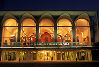 university, New Hampshire, NH, NAA KAHIDI Theater on the campus of Dartmouth College in Hanover in the evening in winter.