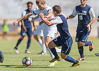 Berkeley, Ca - August 28, 2016: The Cal Bears Men's Soccer team vs the Penn State Nittany Lions at Edwards Stadium. Cal Bears win in overtime. Final score, Cal Bears 2, Penn State 1.