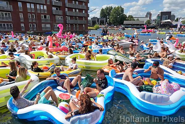Nederland Utrecht  -  Augustus 2018.  Utrecht Drijft in de Veilinghaven. Utrecht Drijft is de opvolger van Rubberboot Missie.   Foto Berlinda van Dam / Hollandse Hoogte