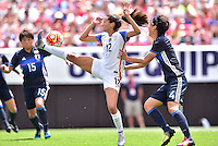 Cleveland, Ohio - June 5, 2016: The USWNT go up against Japan during in an international friendly at FirstEnergy Stadium.