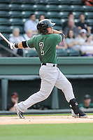 Shortstop Jeremy Sy (2) of the Augusta GreenJackets bats in a game against the Greenville Drive on Opening Day, Thursday, April 9, 2015, at Fluor Field at the West End in Greenville, South Carolina. Greenville won, 3-2. (Tom Priddy/Four Seam Images)