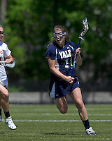 Yale University attacker Caroline Crow (1). Boston College defeated Yale University, 16-5, at Newton Campus Field, April 28, 2012.
