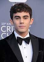 11 January 2018 - Santa Monica, California - Tyler Alvarez. 23rd Annual Critics' Choice Awards held at Barker Hangar. <br /> CAP/ADM/BT<br /> &copy;BT/ADM/Capital Pictures