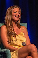 "Coolangatta, Queensland (Thursday, August 2 2018): Lyndie Irons (HAW). - The Gold Coast Premier of the Andy Irons: Kissed by God  movie was held last night at Twin Towns Resort with over a 1000 people in attendance including Joel Parkinson, Occy, Mick Fanning and Lyndie Irons. Kissed by God is a film about bipolar disorder and opioid addiction as seen through the life of three-time world champion surfer Andy Irons. Andy struggled with the same demons that millions of people worldwide battle with daily. Andy was an incredible presence on the world stage as the ""People's Champion."" He was the pride of Hawaii and revered around the world for his blue-collar rise to fame and success. However, many were unaware of the internal battles that led to his demise. As the opioid crisis rises to a national emergency in the United States and around the world, the untold story of Andy's life serves to tear down the myths associated with these two ferocious diseases.<br /> <br /> This film is produced by Teton Gravity Research and is brought to Australia in partnership with Surfing World Magazine<br /> Photo: joliphotos.com"