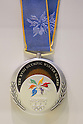 JULY 26, 2011 - Silver medal for Nagano winter Olympics : History of the Olympics in Japan at Japan Mint in Osaka, Japan. (Photo by AFLO) [1080]