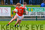 Brosna V Ballyduff: Brosna's Paul Walsh wins the ball ahead of Ballyduff's Darren O'Connor in the semi Final of the Bernard O'Callaghan Memorial Senior North Kerry championship sponsored by McMunns Bar & Restaurant in Frank Sheehy Park, Listowel on Sunday last.