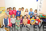 Pictured at their first day of school at Cahair National school Kenmare included are Maggie O'Donoghue, Maria Murnane, Gabriel Murnane, Tiernan Keating-Hayes, Gaspar  Laidron-O'Connor, Heather Randles, Cathal McSwiney, Maggie McCarthy, Lucy Harrington, Aibheann O'Connor, Yvonne Daly, Connie Guerin, Sadhbh Sheehey, Danny O'Shea, David O'Connor, frankie O'Shea and Cian O'Mahony