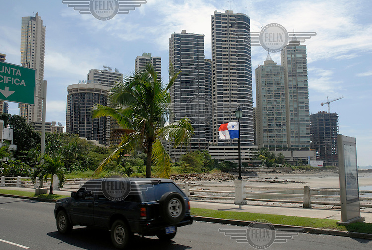 High-rise residential developments. Panama City, one of the main commercial hubs of Central and South America, is currently undergoing a property boom.Photo: Dermot Tatlow/Panos Pictures/Felix Features