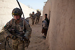 Mcc0027461 . Daily Telegraph..Pte Tom Hopkins..Paratroopers from 5 platoon, B coy 3 Para on patrol out of PB Washiran in northern Nad e Ali....Helmand 26 November 2010