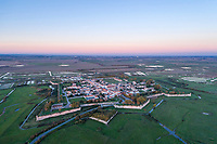 France, Saintonge, Charente Maritime, Hiers Brouage,  Brouage citadel, labelled Les Plus Beaux Villages de France (The Most Beautiful Villages of France) (aerial view) // France, Saintonge, Charente-Maritime (17), Hiers-Brouage, citadelle de Brouage, labellisé Les Plus Beaux Villages de France (vue aérienne)