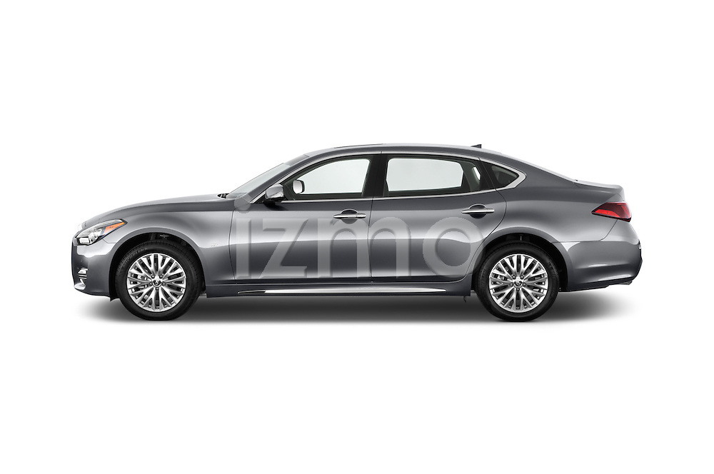 Car Driver side profile view of a 2015 Infiniti Q70 3.7 L 4 Door Sedan Side View
