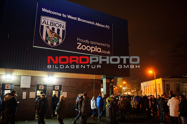 Zoopla branding is displayed outside the ground on the day the sponsor announced they will not be renewing their deal after the 2013/14 season in response to Nicolas Anelka&rsquo;s controversial &ldquo;Quenelle&rdquo; gesture -  - 20/01/2014 - SPORT - FOOTBALL - The Hawthorns Stadium - West Bromwich Albion v Everton - Barclays Premier League.<br /> Foto nph / Meredith<br /> <br /> ***** OUT OF UK *****