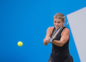 June 11th 2017, Nottingham, England; WTA Aegon Nottingham Open Tennis Tournament day 2;  Jana Fett of Croatia defeats Sachia Vickery of USA in two sets on centre court