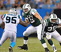 MICHAEL TURKOVICH, of the New York Jets in action during the Jets game against the Carolina Panthers  at Bank of America Stadium in Charlotte, N.C.  on August 21, 2010.  The Jets beat the Panthters 9-3 in the second week of preseason games...