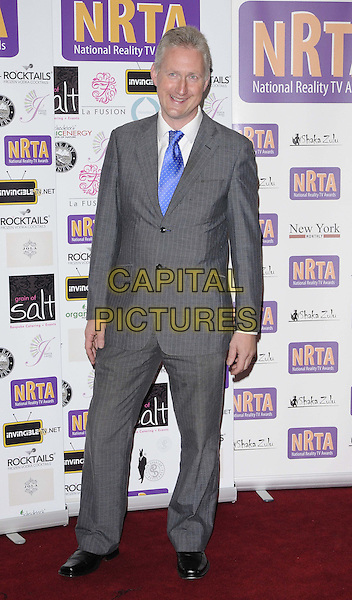Lembit Opik.Reality TV Awards at the Porchester Hall, London, England..August 30th 2012.full length grey gray suit blue tie white shirt.CAP/CAN.©Can Nguyen/Capital Pictures.