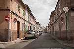 Narrow streets in the village of Llucmajor, Mallorca