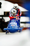 18 November 2005: Nicola Minichiello pilots Great Britain 1 to a 9th place finish at the 2005 FIBT AIT World Cup Women's Bobsleigh Tour at the Verizon Sports Complex, in Lake Placid, NY. Mandatory Photo Credit: Ed Wolfstein.