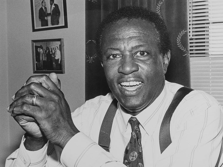 Portrait of Rep. Edolphus Towns, D-N.Y., on June 25, 1990. (Photo by Maureen Keating/CQ Roll Call via Getty Images)
