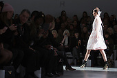 14 February 2014, London, England, UK. A model walks the runway at the Bora Aksu catwalk show during London Fashion Week AW14 at Somerset House, London.