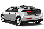 Rear three quarter view of a 2012 Chevrolet Volt