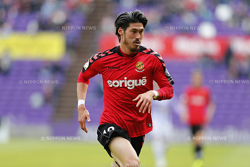 "Daisuke Suzuki (Tarragona), MARCH 25, 2017 - Football / Soccer : Spanish ""Liga 123"" match between Real Valladolid 1-2 Gimnastic Tarragona at the Estadio Jose Zorrilla in Valladolid, Spain. (Photo by Mutsu Kawamori/AFLO) [3604]"