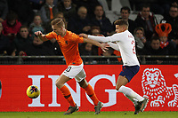 19th November 2019, Stadion De Vijverberg, Doetinchem, Netherlands; U-21 International football freindly, Netherlands versus England; Dani de Wit of the Netherlands challenged by Max Aarons of England U21