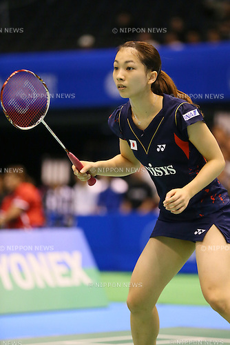 Misaki Matsutomo (JPN), <br /> SEPTEMBER 20, 2013 - Badminton : <br /> Yonex Open Japan 2013 <br /> Women's Doubles <br /> at Tokyo Metropolitan Gymnasium, Tokyo, Japan. <br /> (Photo by YUTAKA/AFLO SPORT) [1040]