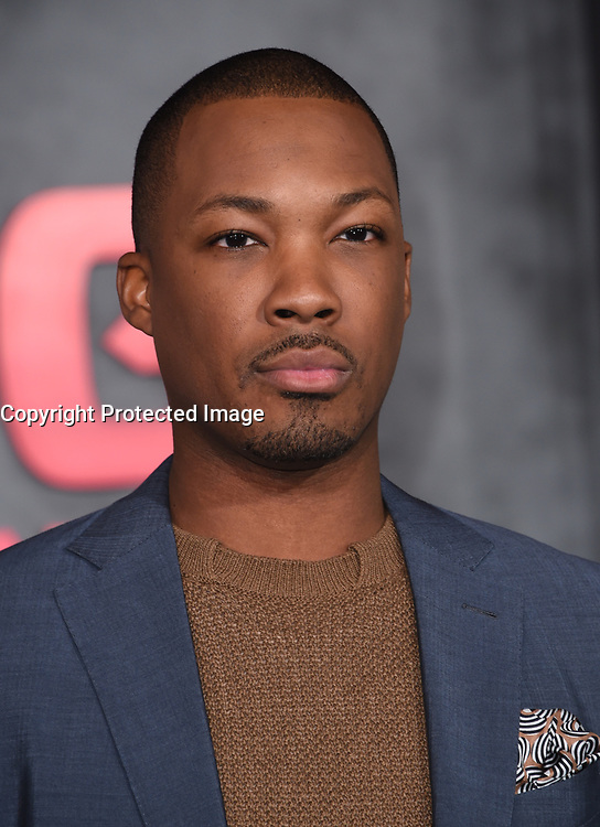 Corey Hawkins @ the Los Angeles premiere of 'Kong: Skull Island' held @ the Dolby theatre.<br /> March 8, 2017 , Hollywood, USA. # PREMIERE DU FILM 'KONG : SKULL ISLAND' A LOS ANGELES