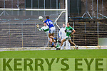 John Ferguson punches  KOR punches the ball past Brian kelly Legion for KOR second goal during their SFC clash in Fitzgerald Stadium on Sunday