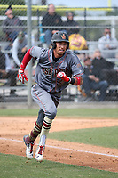 Royce Lewis (6) of the JSerra Catholic High School Lions runs the bases during a game against the St. John Bosco High School Braves at St. John Bosco H.S. on May 9, 2017 in Bellflower, California. (Larry Goren/Four Seam Images)