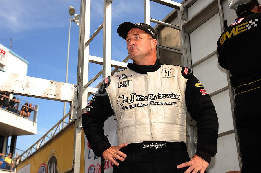 Sept. 25, 2011; Ennis, TX, USA: NHRA top fuel dragster driver Bob Vandergriff Jr during the Fall Nationals at the Texas Motorplex. Mandatory Credit: Mark J. Rebilas-