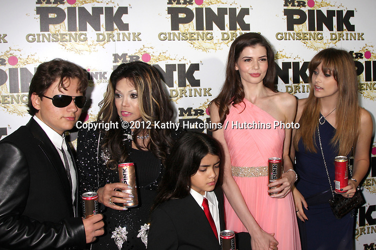 "LOS ANGELES - OCT 11:  Prince Michael Jackson, LaToya Jakson, Blanket Jackson, Monica Gabor, Paris Jackson arrives at the ""Mr. Pink"" Energy Drink Launch at Beverly Wilshire Hotel on October 11, 2012 in Beverly Hills, CA"