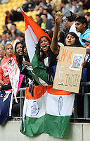 India supporters during 2nd Twenty20 cricket match match between New Zealand Black Caps and West Indies at Westpac Stadium, Wellington, New Zealand on Friday, 27 February 2009. Photo: Dave Lintott / lintottphoto.co.nz
