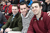 Former Boston College hockey managers Chris Malloy (Class of 2012) and Tom Maguire (Class of 2013) attended the game with a friend. - The Boston College Eagles defeated the visiting University of Notre Dame Fighting Irish 4-2 to tie their Hockey East quarterfinal matchup at one game each on Saturday, March 15, 2014, at Kelley Rink in Conte Forum in Chestnut Hill, Massachusetts.