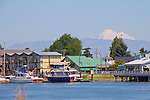 La Conner, Swinomish Channel, Mount Baker, Skagit County, Washington State,